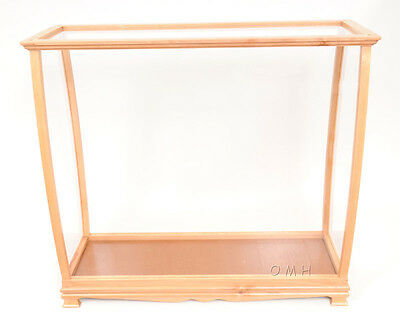 Display Case Tall Ship Boat Yacht Sailboat Model Wood Medium Size 36""