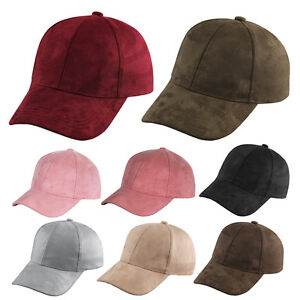 Image is loading Fashion-Snapback-Suede-Baseball-Cap-Women-Mens-Casquette- ad35cadbd22
