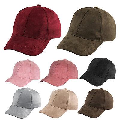 37e565092 Adjustable Suede Baseball Cap Snapback Visor Sport Sun Unisex Men Women Hat  | eBay