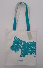RADLEY  - SCRIBBLE DOG - COTTON CANVAS TOTE / SHOPPER BAG - TURQUOISE RADLEY DOG