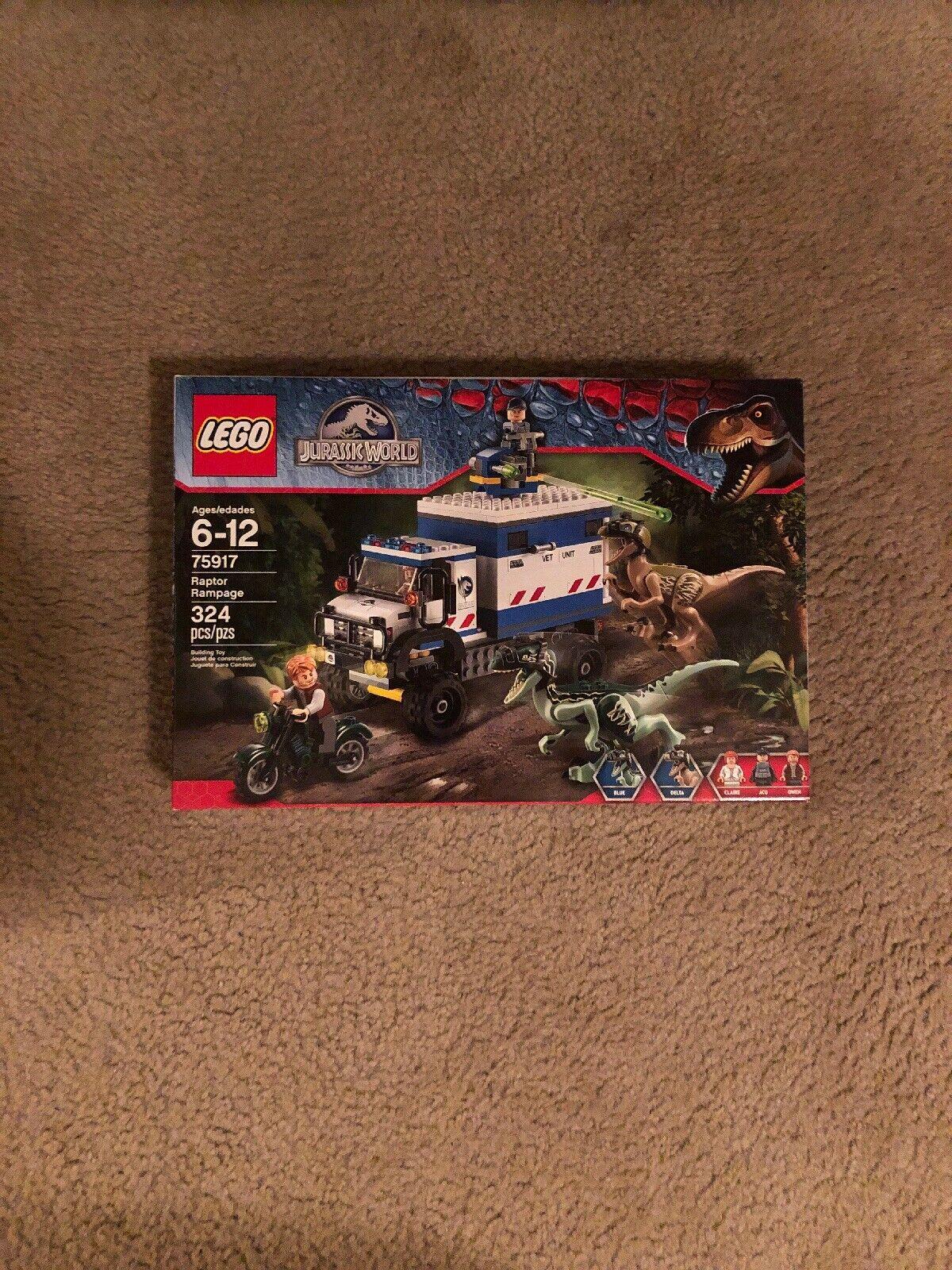 LEGO Jurassic World  75917 Raptor Rampage. New. Retirot. NO RESERVE