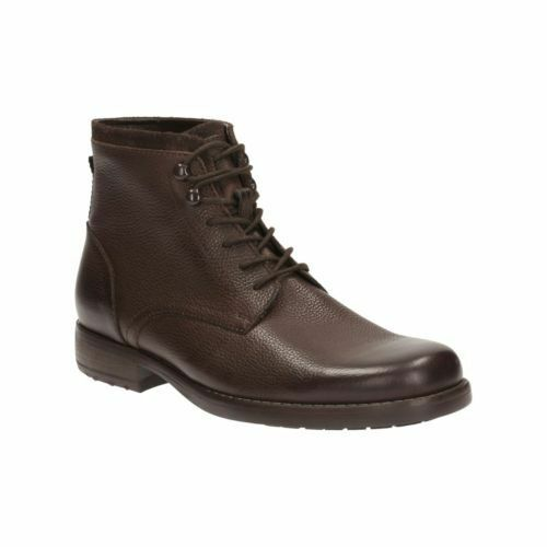 Botas Top Clarks g 10 cuero de Unido oscuro Ashburn Tamaño para hombres Reino marrón rnrqx1fw