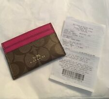 BNWTS Coach SIGNATURE  Card Casei F63279 + GIFT RECEIPT