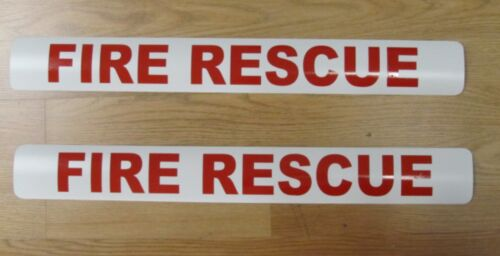 FIRE RESCUE Magnetic Signs 3x24 vehicle Truck Car Van SUV Fire Truck EMS EMT
