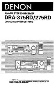 Denon dra 375rd dra 275rd dra 275r service manual download downlo.