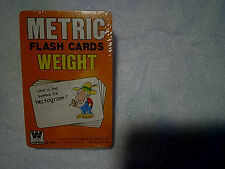 1978 METRIC FLASH CARDS WEIGHT,SEALED,Whitman #4596,farmer pipe,hectogram,system