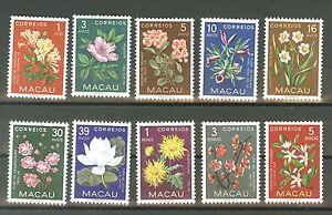 Macao: Sc. 372-381** MNH Flowers, v.f. set (II)