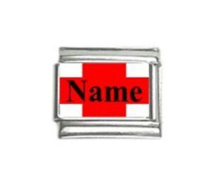 Italian-Charms-M1-Any-Name-England-Flag-CUSTOM-MADE