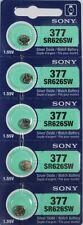 Sony SR626SW 1.55V Silver Oxide Batteries - 5 Count