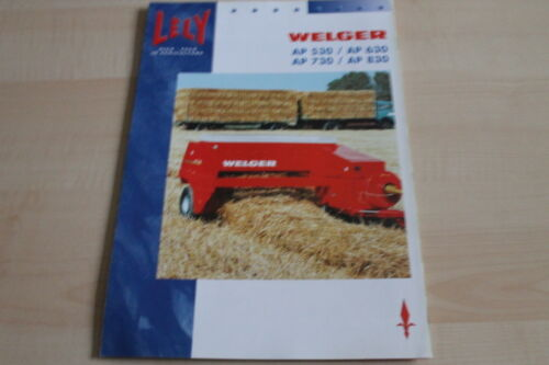 128383 Lely Welger Aufsammelpresse AP 530 630 730 830 Prospekt 10//2005