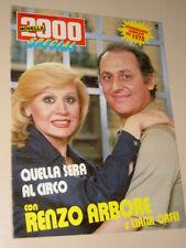 NOVELLA2000 RENZO ARBORE ORFEI  LIANA fotoromanzo QUELLA SERA AL CIRCO 1978/1987