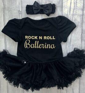 Ballerine Danseuse Tutu Ange, Gold Glitter Rock N Roll Ballerine, Nouveau-né Cadeau-afficher Le Titre D'origine
