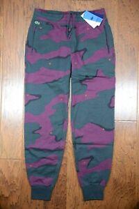 Lacoste LIVE HH1441 $145 Men's Rose Embroidered Camo Cotton Sweatpants XL EU 6