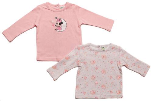 Minnie Mouse Langarmshirts im 2er Pack Weiß//Lila oder Weiß//Rosa