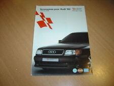 DEPLIANT accessoires Audi 100 de 1991