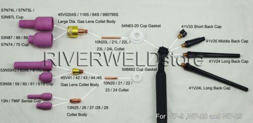 41V24 TIG Back Caps  Long Fit TIG Welding Torch SR DB PTA WP 9 20 25 Series 2PK