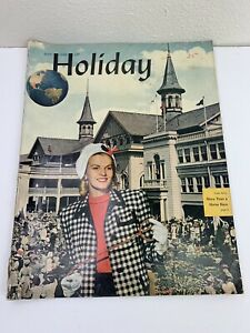 Holiday Magazine May 1946 Travel Photos Stories Ads Trains Airline Luggage Fashi