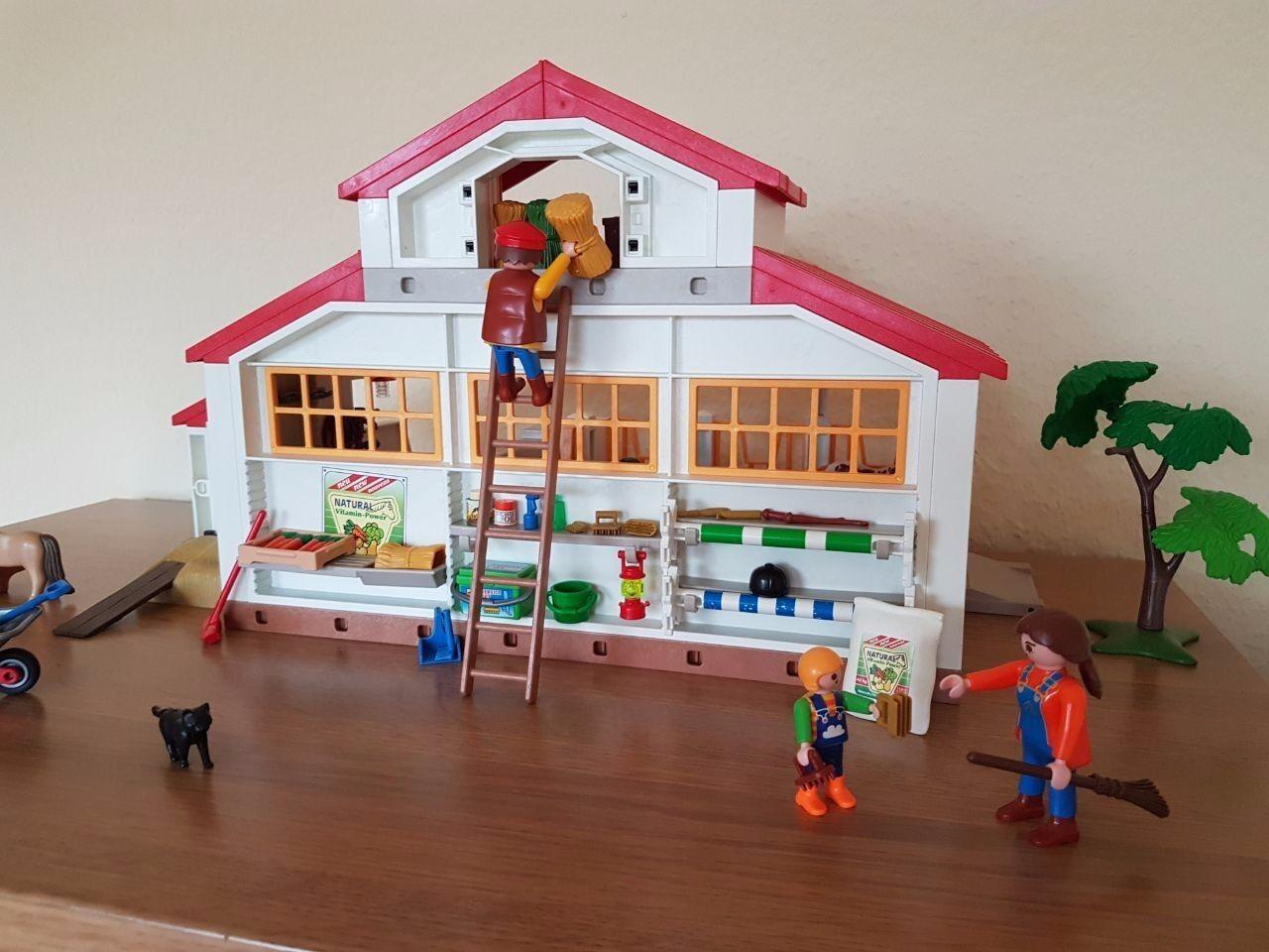 Playmobil 4190 Reiterhof komplett in OVP + Anleitung TOP Zustand wie neu