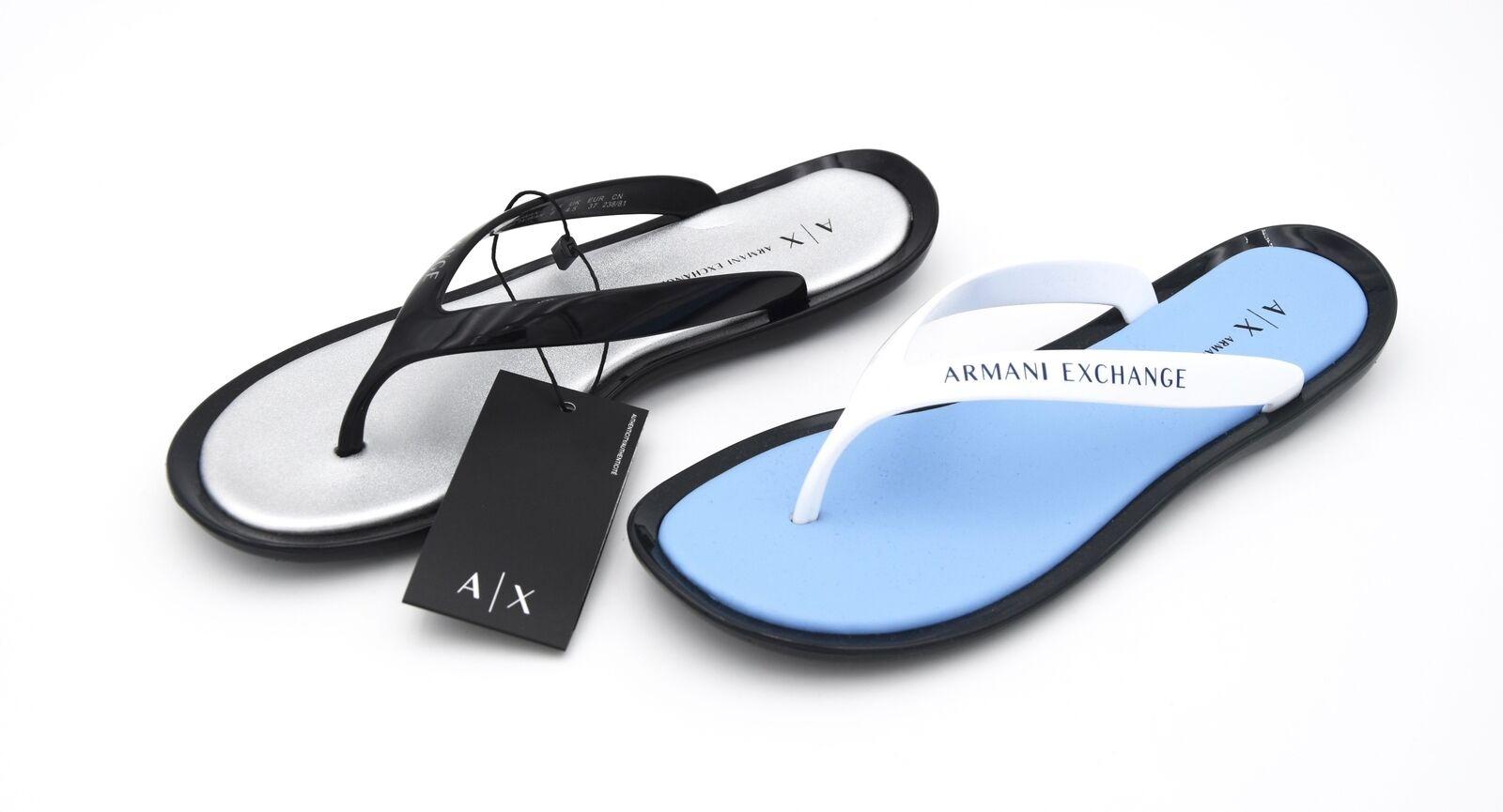 Armani Exchange Femme Tongs Sandales Chaussures En Caoutchouc code 945082 8P478