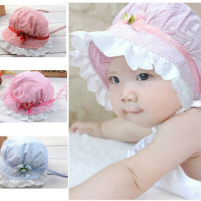 Spring Summer Princess Baby Hat With Bow Hollow Girl Cap Kids Beach Bucket Hat Q