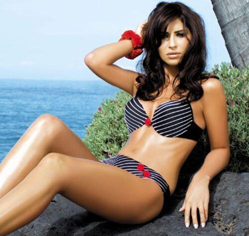 Top Quality Donna Push Up Imbottito Con Ferretto Bikini Set Costumi da bagno in tessuto italiano