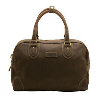 Troop London - Dark Brown Faux Leather Travel Holdall