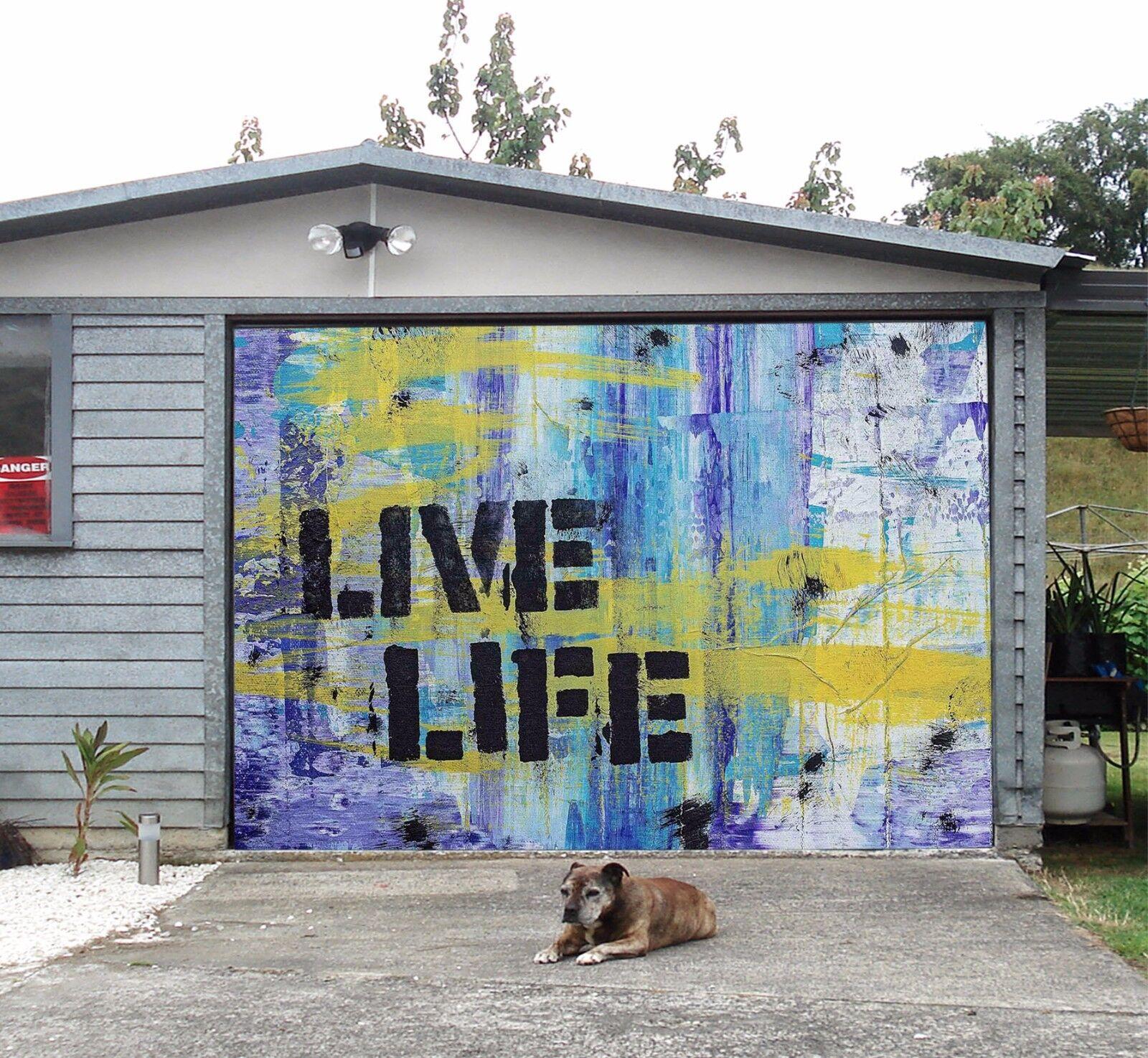 3D Simple Life 52 Garage Door Murals Wall Print Decal Wall AJ WALLPAPER AU Lemon