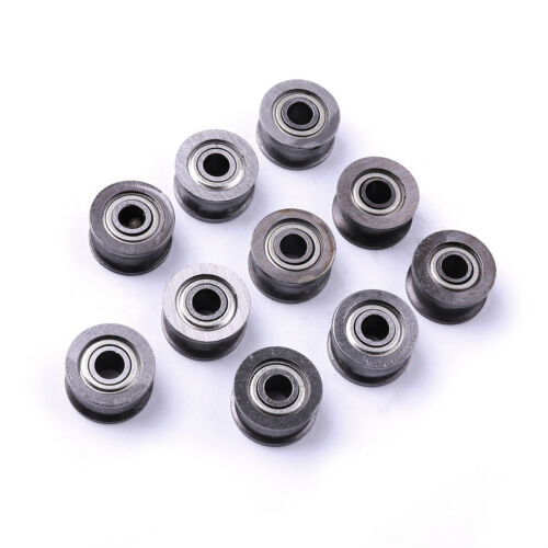 10pcs 4x13mm U Groove SEALED Guide Pulley Rail Track roller ball bearings