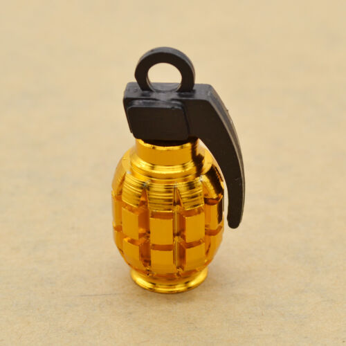 4pcs Cute Hand Grenade Shape Schrader Valve Cap Bicycle Car Air Valve Dust Caps