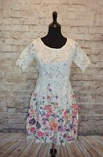 Modcloth Garden of Glamour Dress Sz 6 (may fit 8) crochet lace NWT Cutie floral
