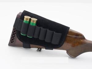 Leather-Stock-Cover-12ga-16ga-Shotgun-Cartridge-6-Shell-Buttstock-Holder-Ammo