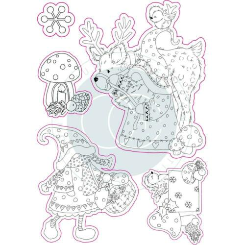 Mr /& Mrs Snow Gnome Set Clear Rubber Stamp Set Craft Consortium CCSTMP015 New