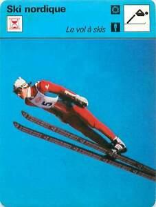 FICHE-CARD-Vol-a-ski-Ski-flying-Toni-Innauer-Autriche-Austria-SKI-NORDIQUE-1970s