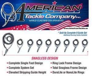 American Tackle MicroWave Casting Guides- Nanolite- Black & Tip Top