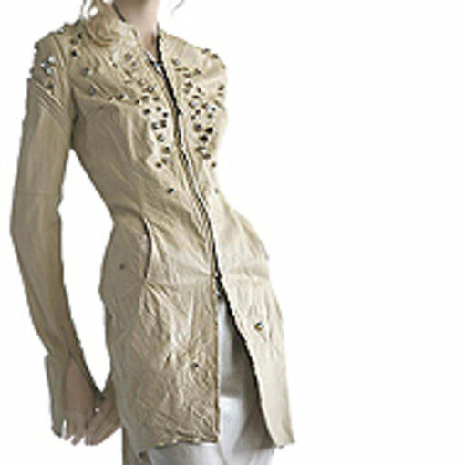 NEW GIVENCHY TISCI CRYSTAL LEATHER COAT RT8652 RT8650