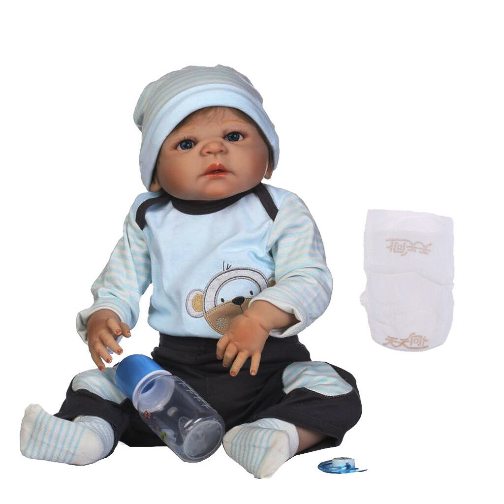 57cm Lebensechte Silikon Vinyl Reborn Puppen Neugeborene Babby Puppe Alive