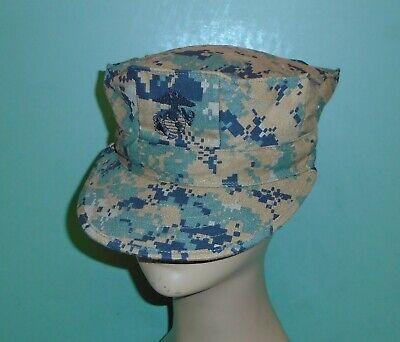 WW2 US HBT USMC Pacific Camouflage Khaki Marine Corps Cap Hat Replica