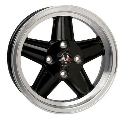 Revolution Road 6.0x15 5 Spoke Alloy Wheel ET08 Black Triumph TR6