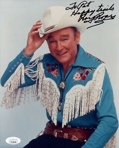 Roy Rogers Singer Actor Signed 8x10 Photo with JSA COA