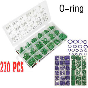 270-PC-O-Ring-Seal-Rubber-Assortment-18-sizes-Green-Kit-Hydraulics-Air-Gas-Oil-f