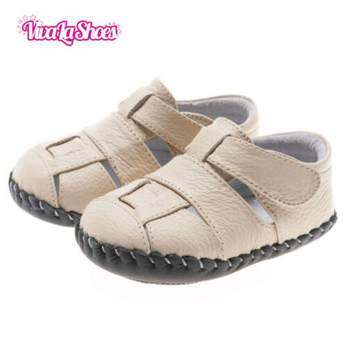 Boys Toddler REAL Leather Soft Sole Baby Sandals Light Brown