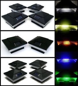 4x4 post lights outdoor image is loading solarpostcapdeckfencelightsblackcolored solar post cap deck fence lights black colored 4x4 pvc vinyl or wood