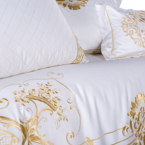 Egyptian Cotton Luxury Hotel Embroidered Queen King 500TC Cover Set 4pc 7pc