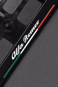 2-x-Alfa-Romeo-Euro-License-Number-Plate-Frame-Tag-Holder