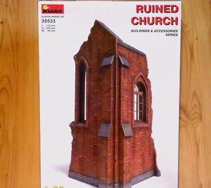 Miniart 1:35 ruiné Church Model Kit
