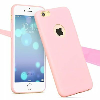 For Apple iPhone 5 6 6S 7 7Plus TPU Rubber Ultra Thin Protective Hard Case Cover