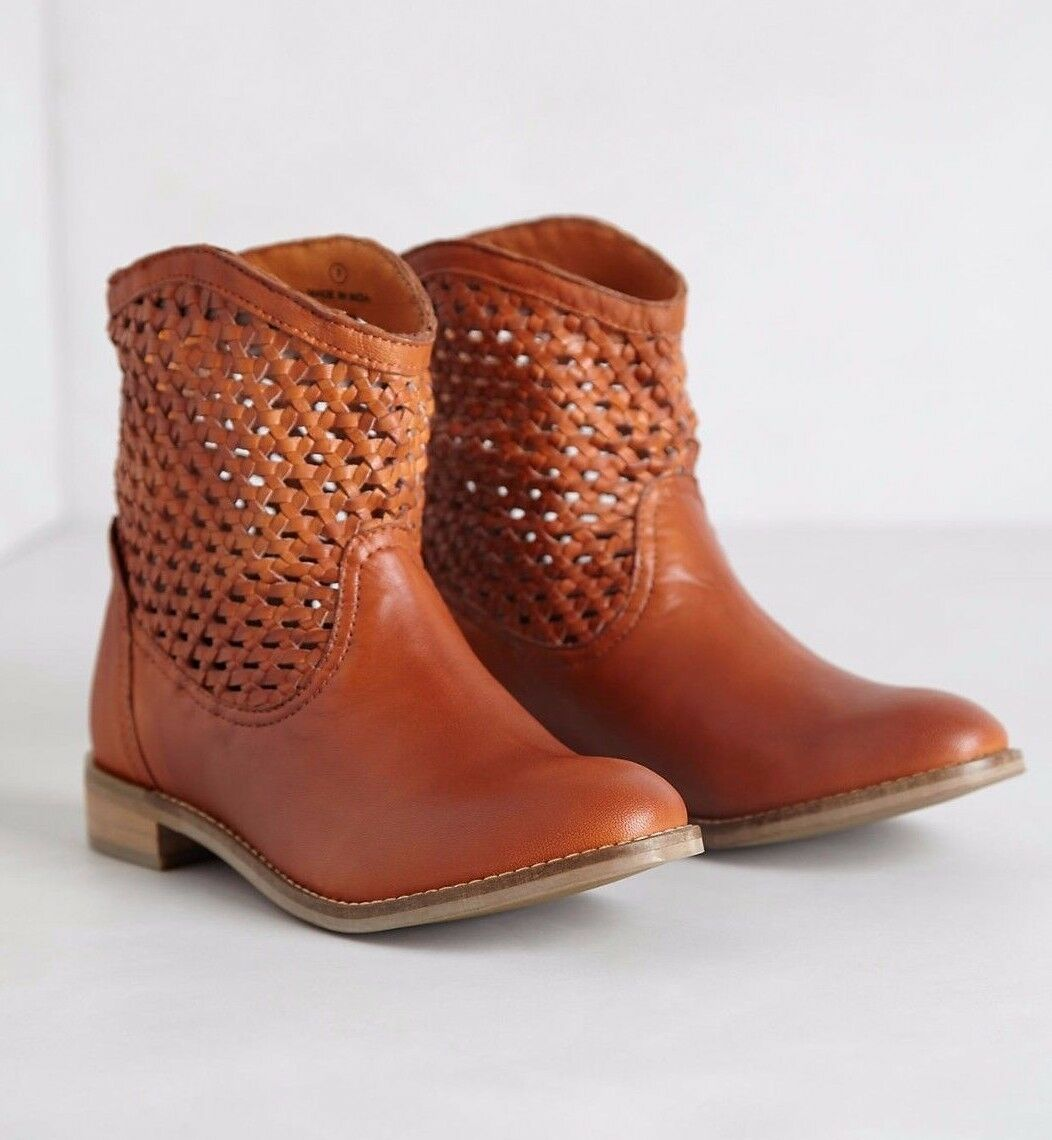 ANTHROPOLOGIE WOVEN TRAIL BOOTIES SEYCHELLES Schuhe ANKLE BOOTS 6.5 145