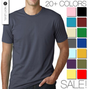 Next-Level-Apparel-Premium-Crew-Neck-T-Shirt-Mens-Soft-Fitted-Basic-Tee-3600