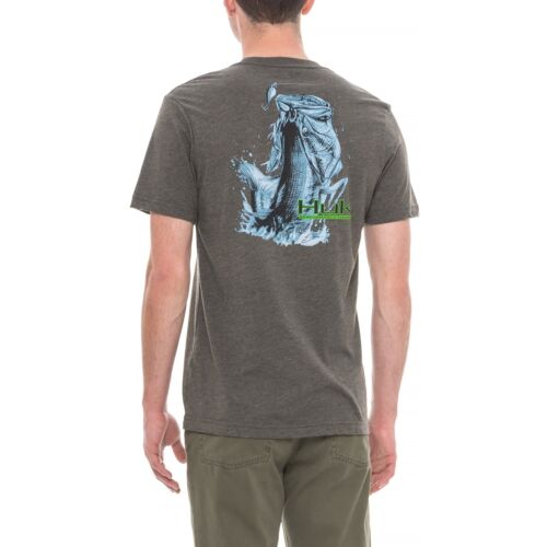 HUK Logo KC Scott Fishing Breathable Jumping Bass S//S T Shirt Choose Size//Color