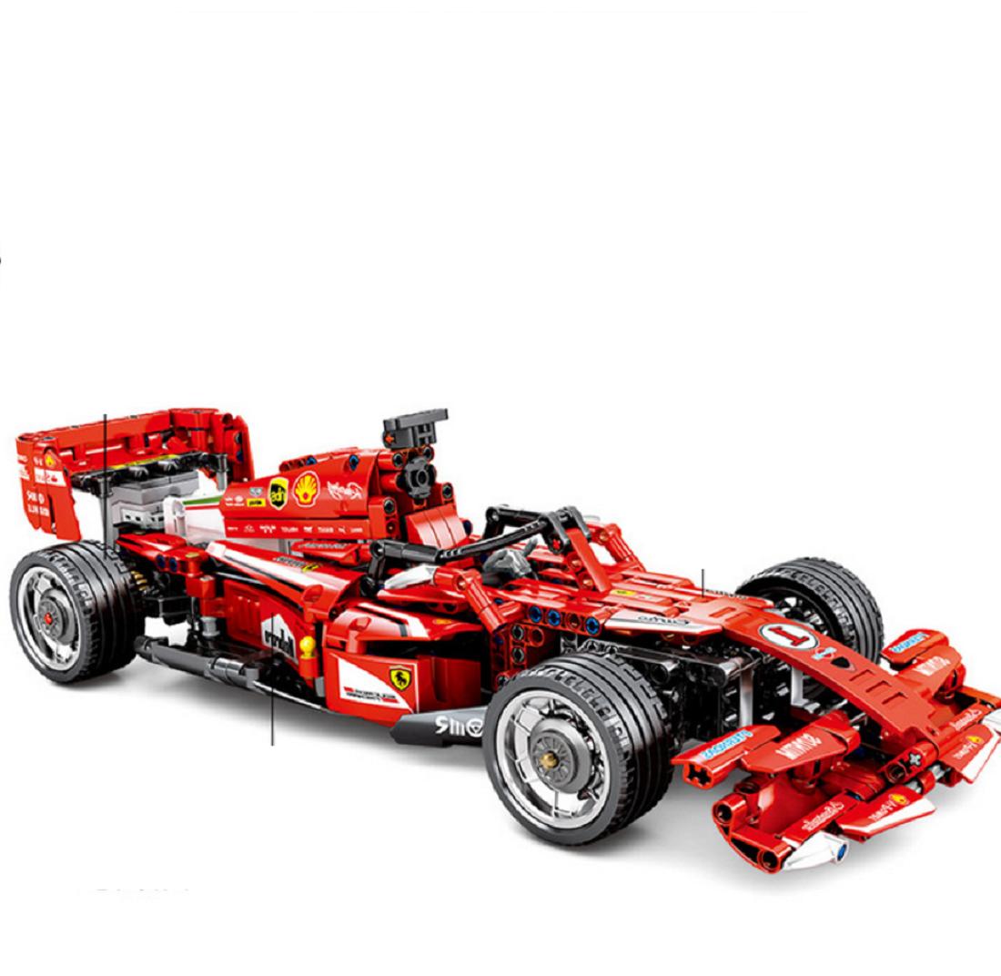 Bausteine F1 rot Racing Elektromotor Kinder Figures Spielzeug Model Geschenk